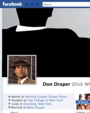 Mad Men's Don Draper Presents Facebook Timeline