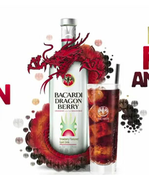 Bacardi Dragonbarry Projection