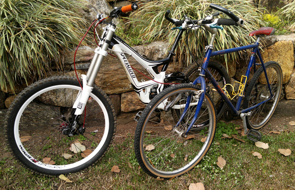 Specialized Demo 2010 and 1987 RockHopper