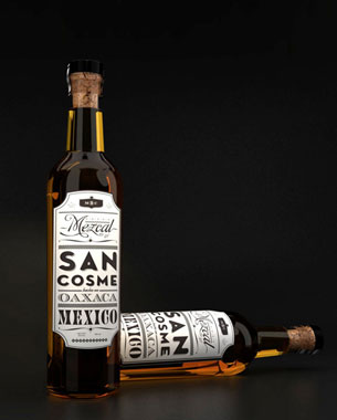 "Traditional Mexican Mescal ""San Cosme"""