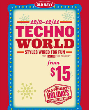 Old Navy's Techno World - Branding Magazine