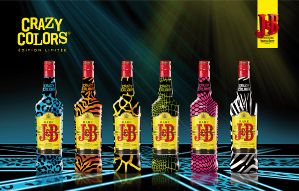 J&B Crazy Colors Limited Edition Bottle
