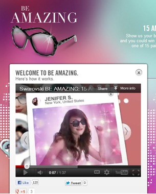 Swarovski 'Be Amazing' Campaign Goes Virtual