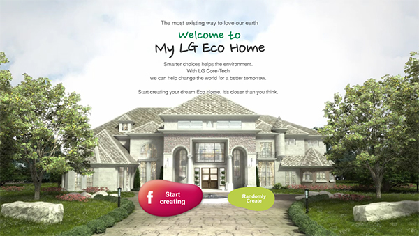 Create Your Virtual Dream Home With The Eco Friendly LG Branding