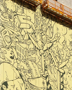 There's Always a Way to Advertise-GE Makes Massive Graffitis in Sao Paulo