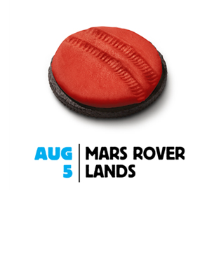 Oreo 'Twists' its Cookie to Commemorate Mars Curiosity Landing