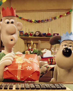 Google+ Holiday Hangout with Wallace & Gromit