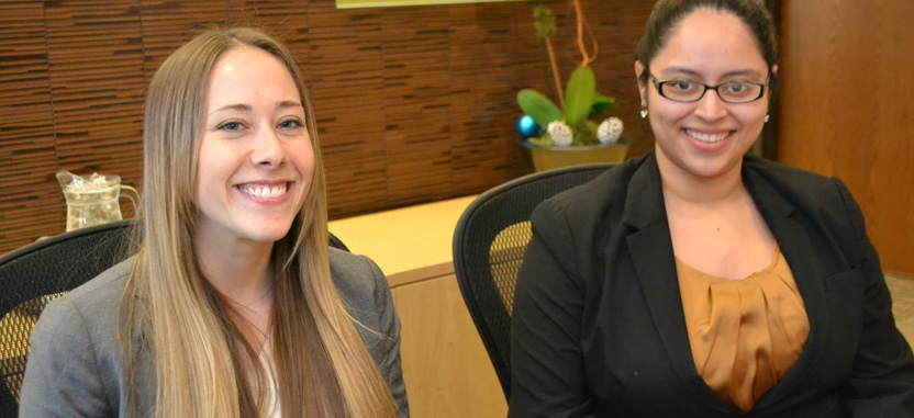 The real face of customer-centricity: Center Manger Jillian Larsen and CSR Jacqueline Samara at the author's favorite Regus office center.