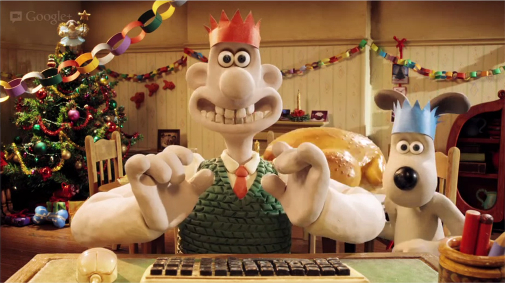 Google Holiday Hangout with Wallace  Gromit  Brandingmag