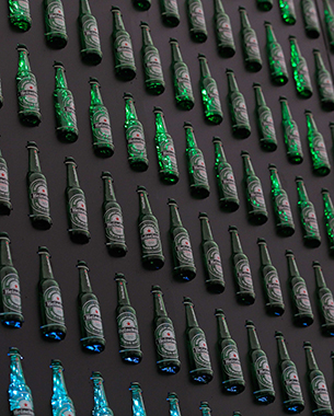 Heineken's Interactive Bottle Wall Brings People Closer