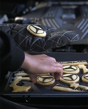 Mercedes AMG Uses Sportscar to Bake Christmas Cookies