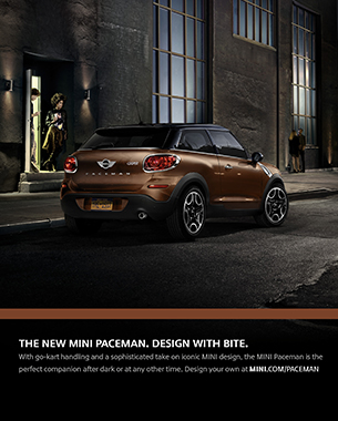 "MINI's ""Design With Bite"" Campaign for Paceman Model Kicks Off"
