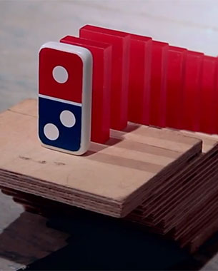 Domino's Says Thank You With 50,000 Dominoes