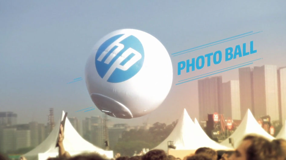 HP Photoball Builds Brand Experience, Thrills Festival Goers