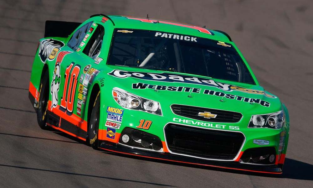 ... St. Patrick's Day GoDaddy car at the Sprint Cup Bristol Race last