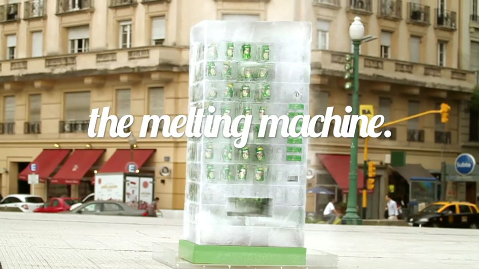 7 Up's Melting Machine Engages Consumers in a Creative Way