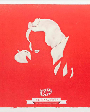 Kit Kat Preserves 50 Last Limited Edition Chocolates on Posters