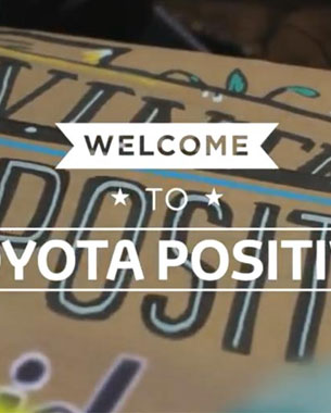 Toyota Promotes its Eco-Car With Acts of Kindness