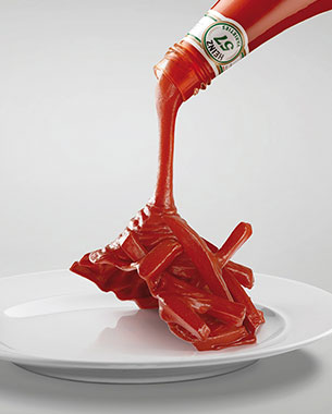 Leo Burnett Cairo Dresses Up Food With Heinz Ketchup