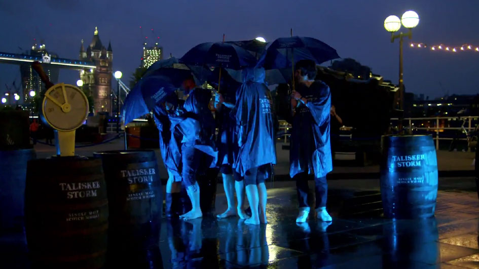 Talisker Whisky Brand Summons an Interactive Storm in London