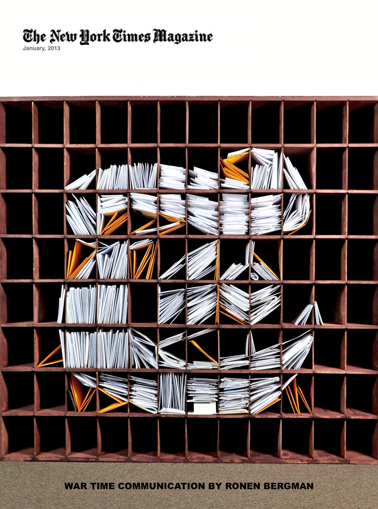 New York Times Logo Recreated With Stacks of Mail ...