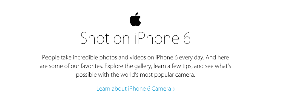 a report on apples shot on iphone campaign Apple does not accept unsolicited submissions of photographs or films to be  it  onto billboards around the world as part of the shot on iphone 6 campaign.