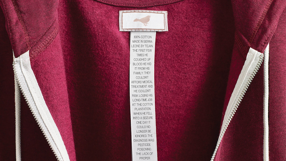 A Tough History of Workers Written on Clothing Labels