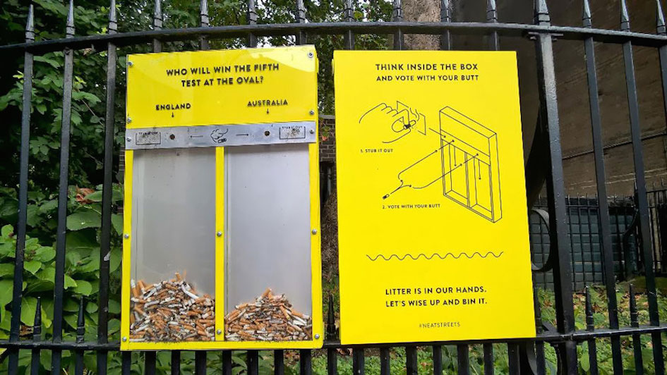 Ronaldo Or Messi? Vote With Your Cigarette Butts and Stop the Litter